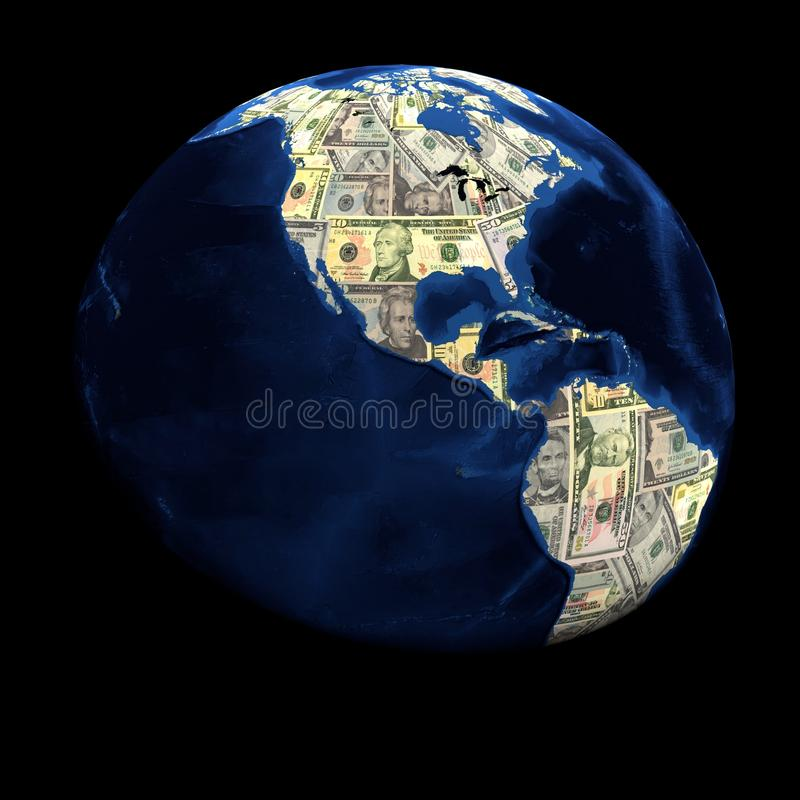 Download Global currency dollars stock illustration. Image of abstract - 21826187