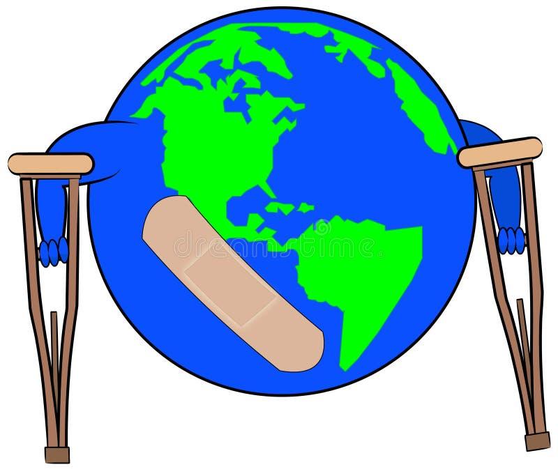 Global damage stock illustration