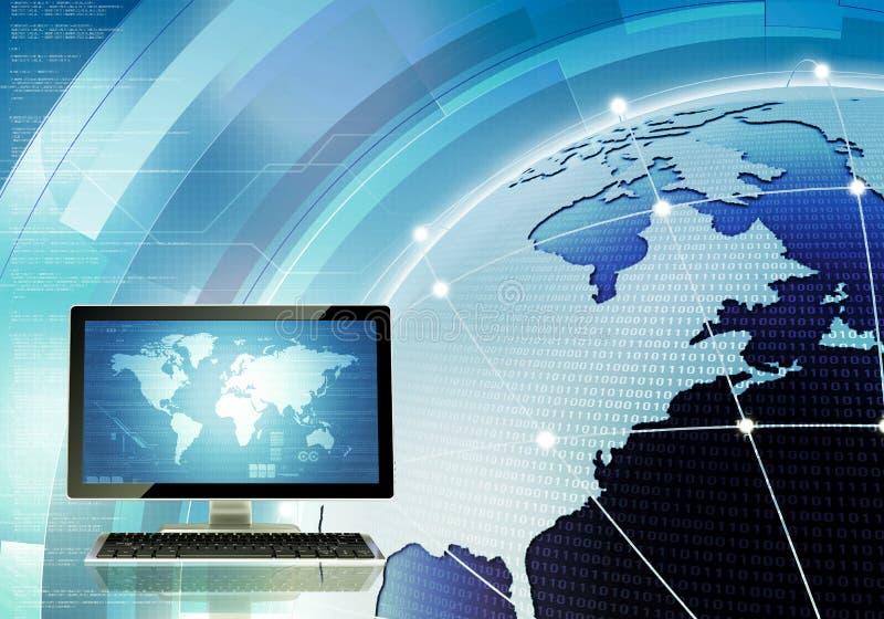Global datornätmall royaltyfri illustrationer