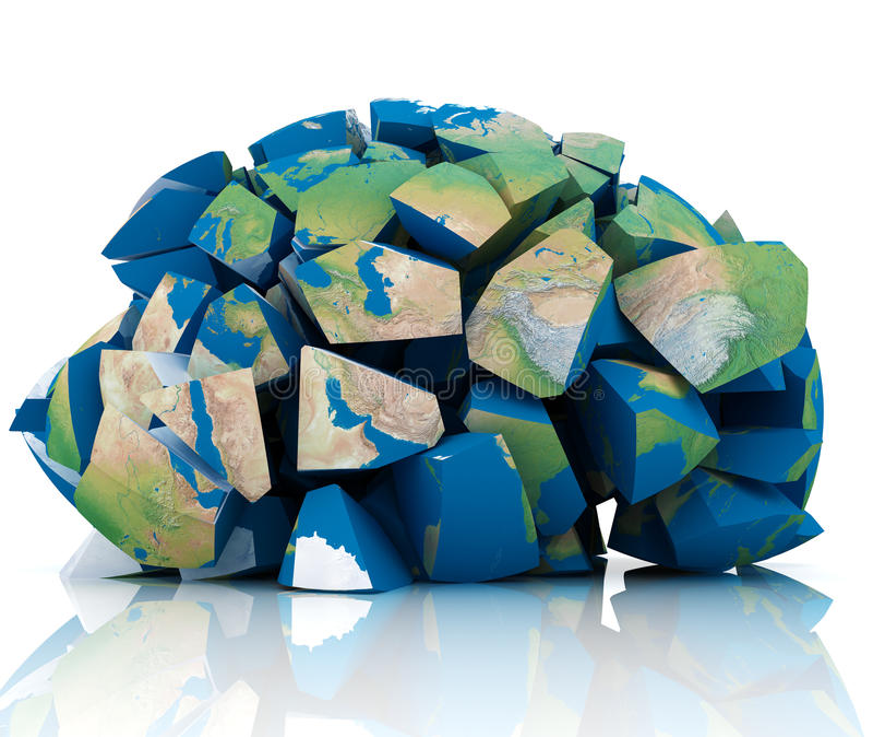 Download Global Destruction stock illustration. Image of blowing - 17820038