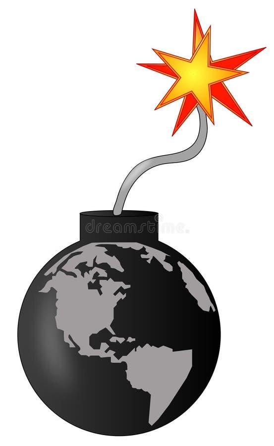 Download Global destruction stock vector. Image of international - 4796607