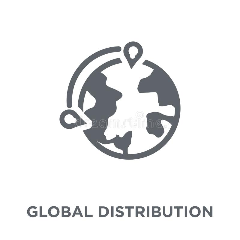 Global distribution icon from Delivery and logistic collection. vector illustration