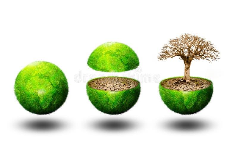 Global ecology vector illustration