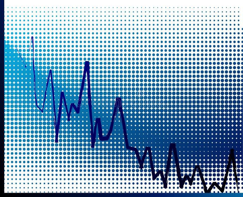 Global economic crisis. Business graph moving down- illustration royalty free illustration