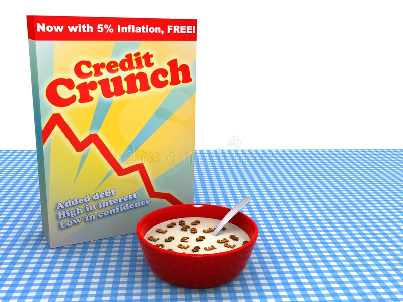 The global economy in credit crunch stock illustration