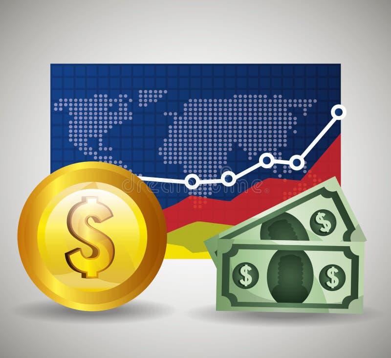 Global economy design,. Global economy money design, vector illustration eps 10 royalty free illustration