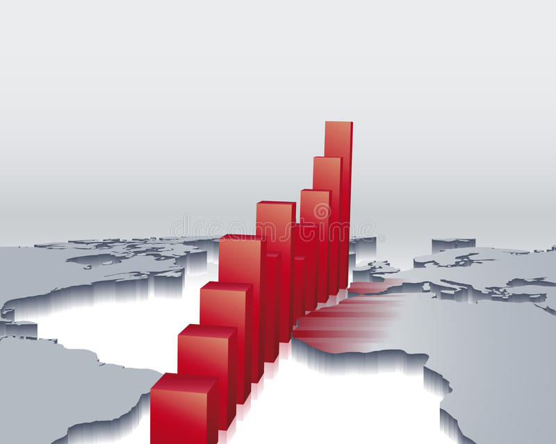 global ekonomi vektor illustrationer