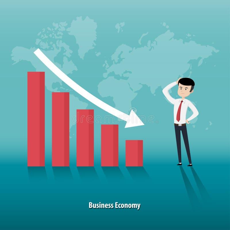 Global ekonomisk nedgång stock illustrationer