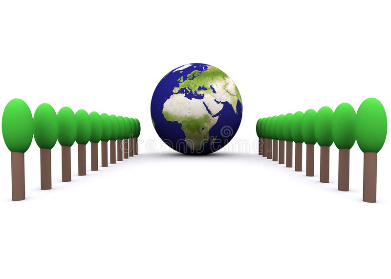 Global environment(europe) royalty free illustration