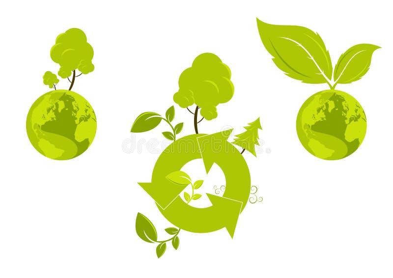 Global environment graphic vector illustration