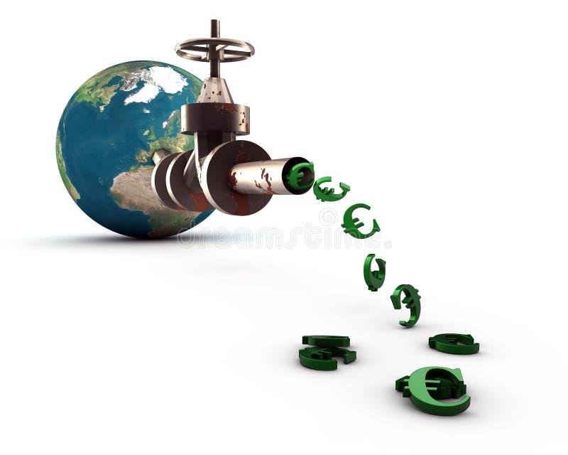 Download Global Euro pipeline stock illustration. Illustration of euros - 19767203