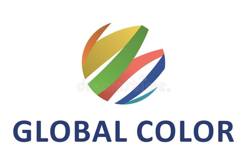 Global färglogo royaltyfri illustrationer