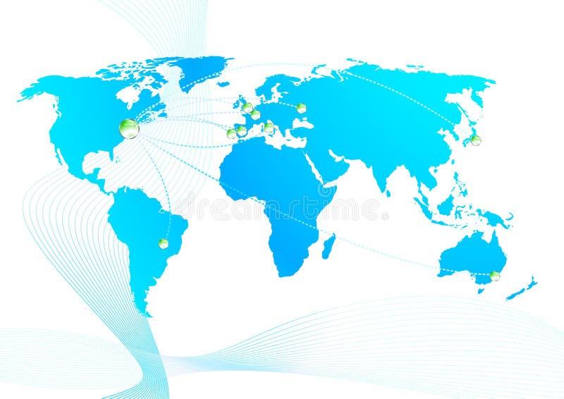 global förhållandehandel royaltyfri illustrationer