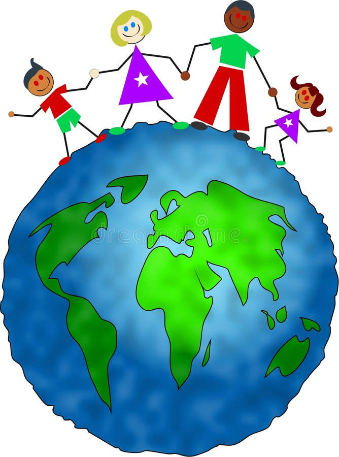 global familj vektor illustrationer