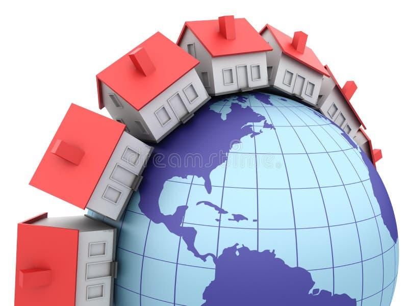 Global fastighet royaltyfri illustrationer