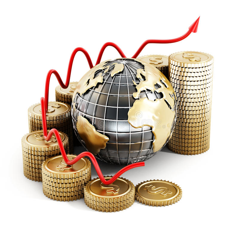 Global finance chart. On white background vector illustration