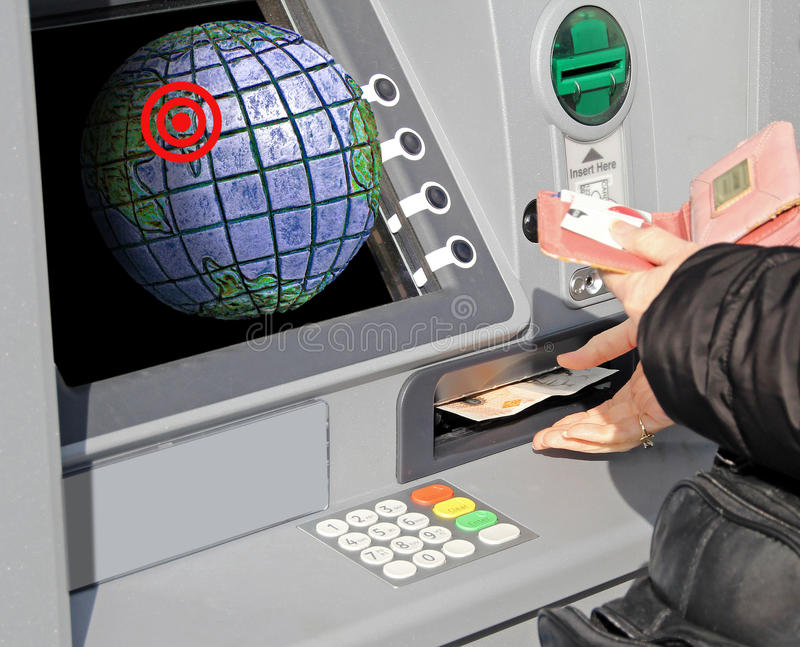 Global financial connections royalty free stock photos