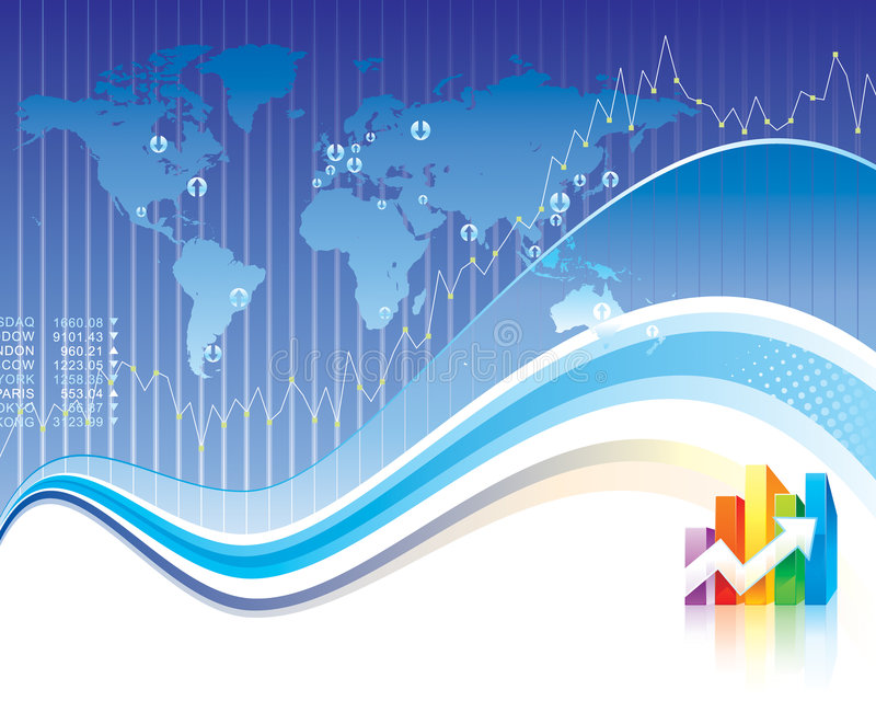 global finans royaltyfri illustrationer