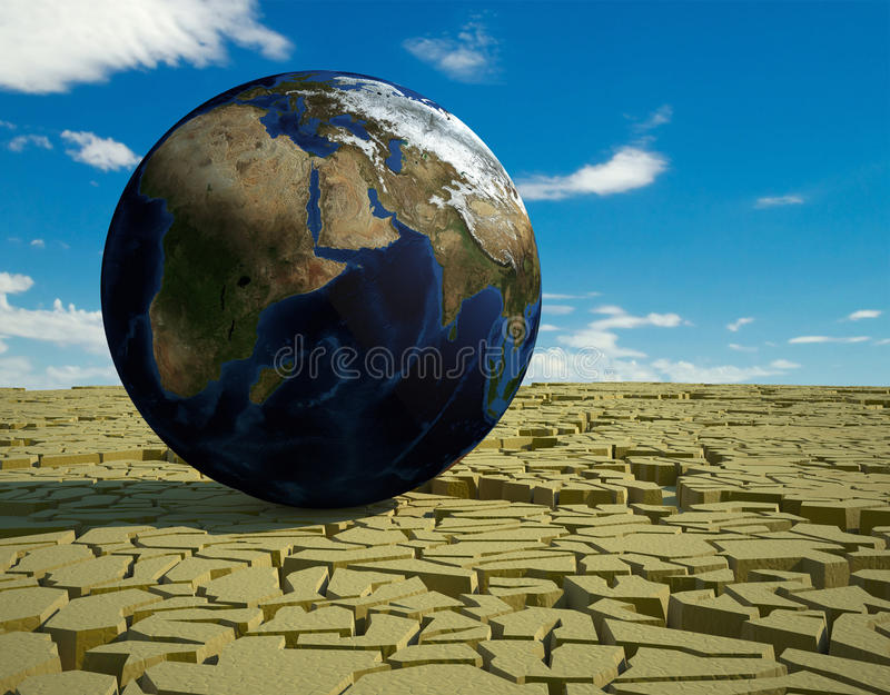 Global food crisis and drought warning stock illustration