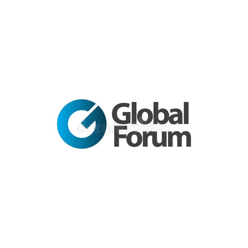 Global Forum Logo Vector Template Design Illustration stock abbildung