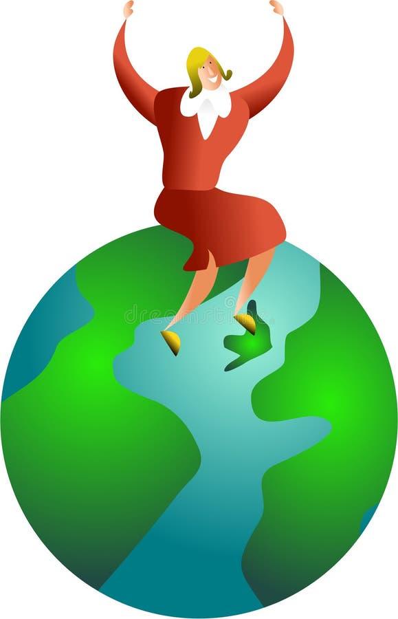 global framgång royaltyfri illustrationer