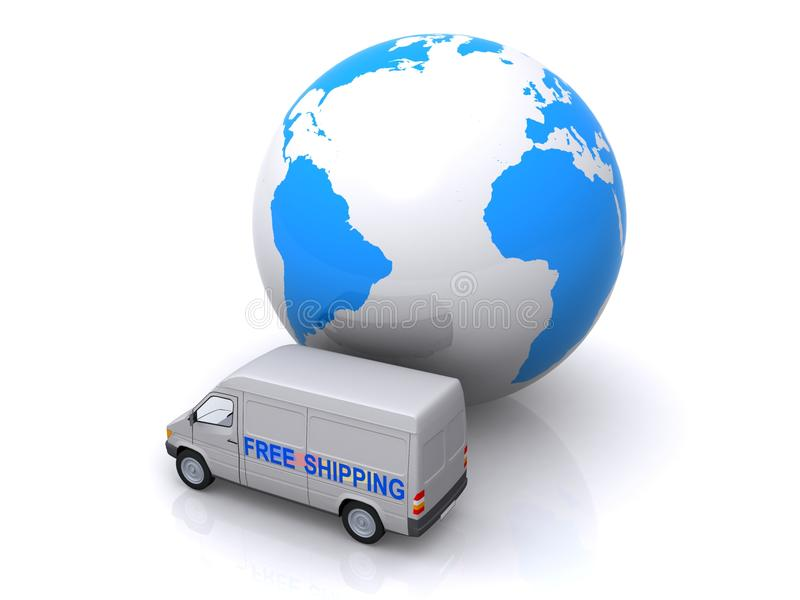 Download Global free shipping stock illustration. Image of shipping - 22431153