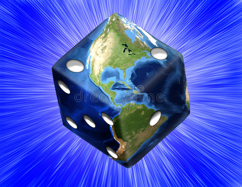 Global Gamble royalty free illustration