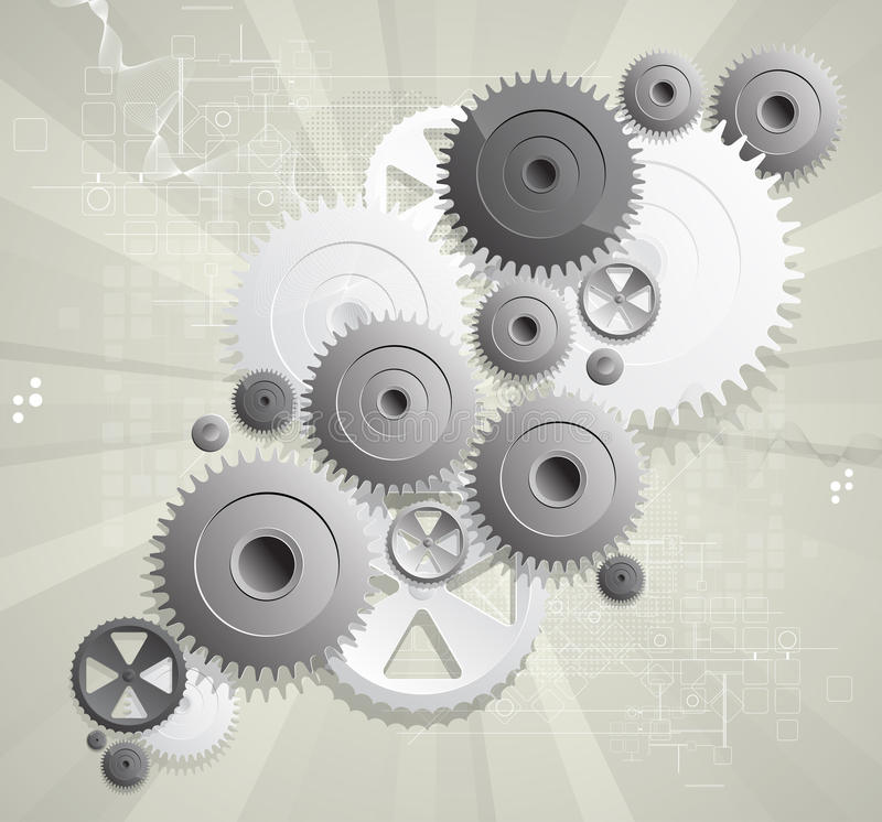 Global gears computer technology concept business royalty free illustration