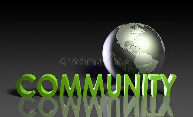 global gemenskap stock illustrationer