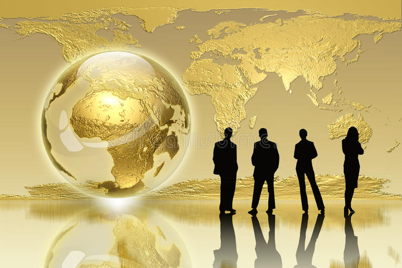 Global generation - business edition stock photo