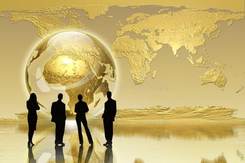 Global generation - business edition stock illustration