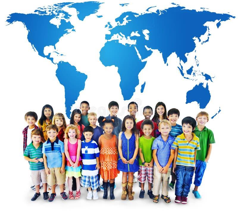 Global globaliseringvärldskarta miljö- Concservation Conce royaltyfri bild