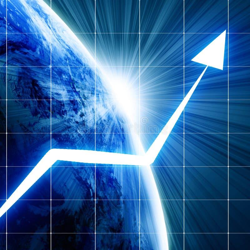 Global growth stock illustration