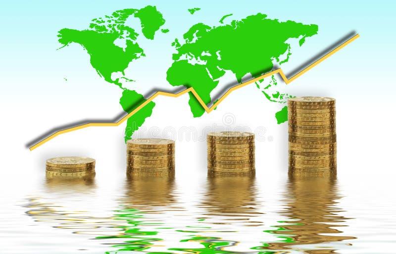 Global growth illustration vector illustration