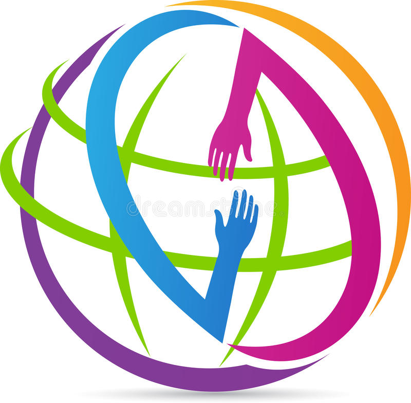 Global helping hands royalty free illustration