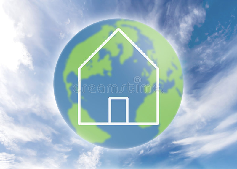 Global home stock illustration