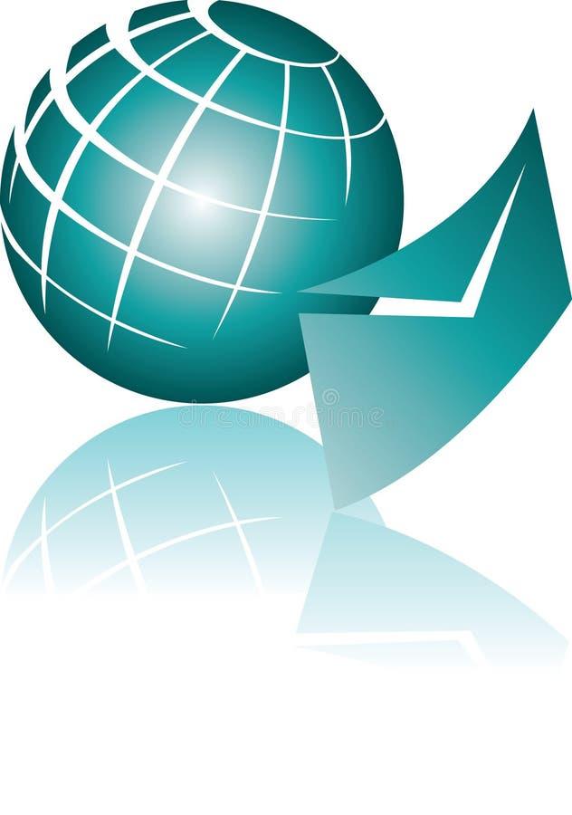global illustration för e-post royaltyfri illustrationer