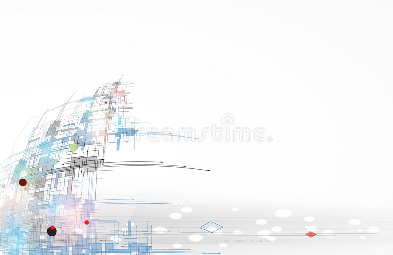 Global infinity computer technology concept business background royalty free illustration
