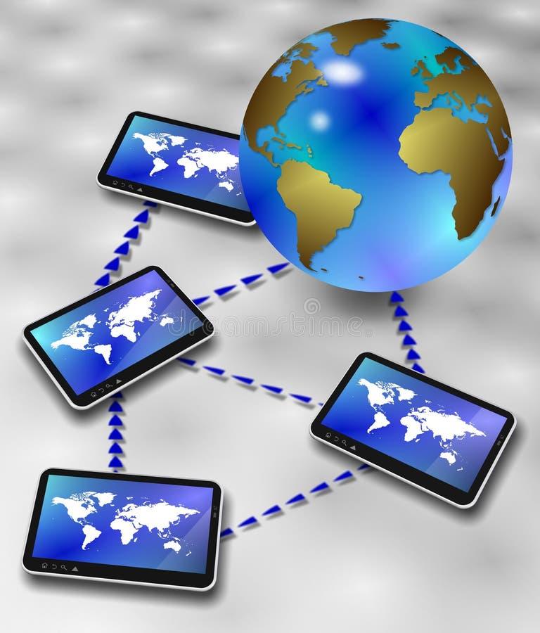 Download Global information network stock illustration. Illustration of market - 26813373