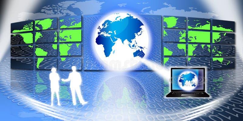 Global Information Technology vector illustration