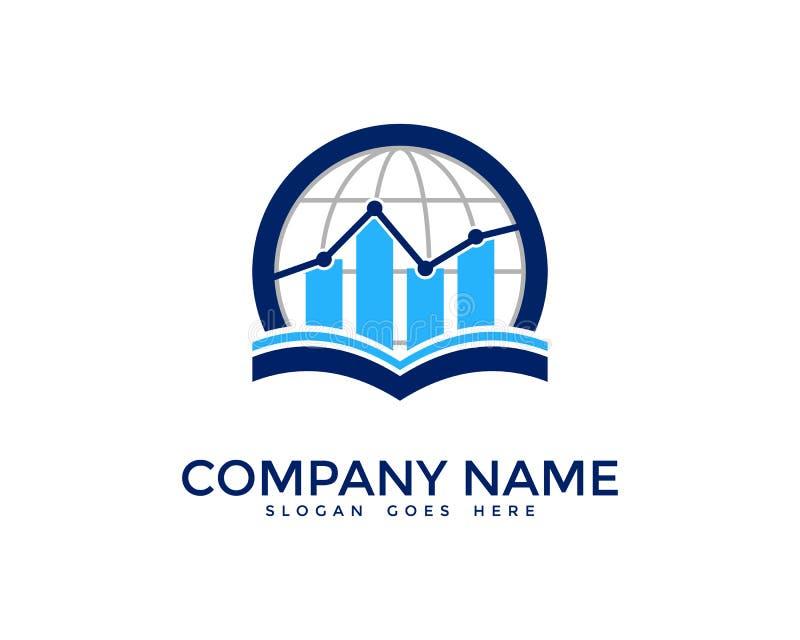 Global International Report Icon Logo Design Element royalty free illustration