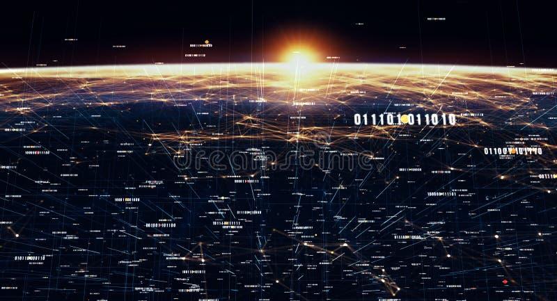 Global internationell uppkopplingsmöjlighetbakgrund vektor illustrationer