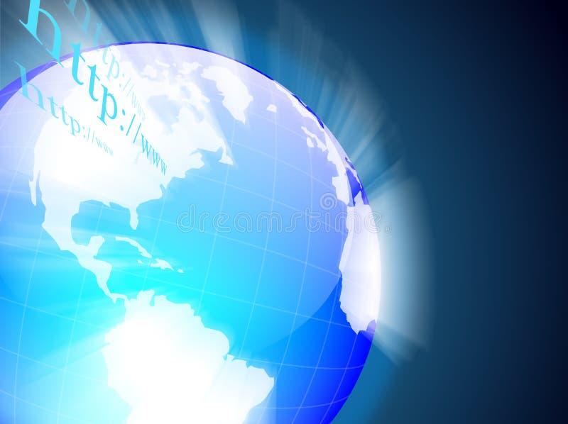 Global internet. A blue global internet business vector illustration