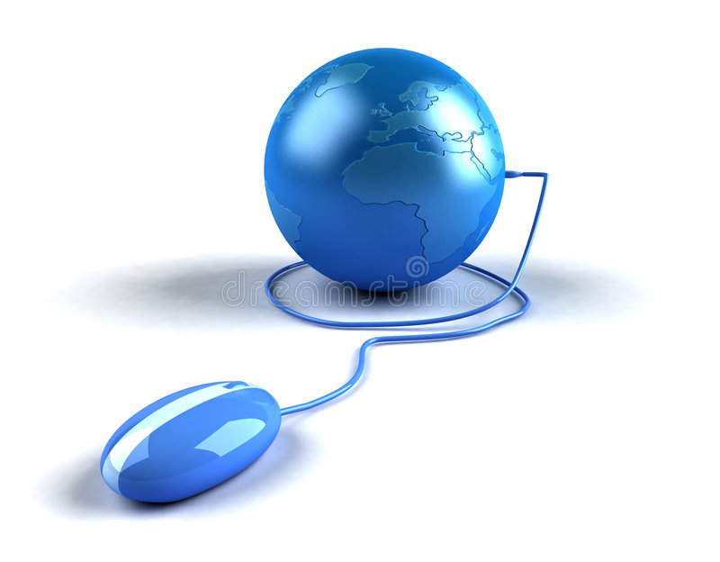 Global internet. World communications, made easy thanks to the internet royalty free illustration