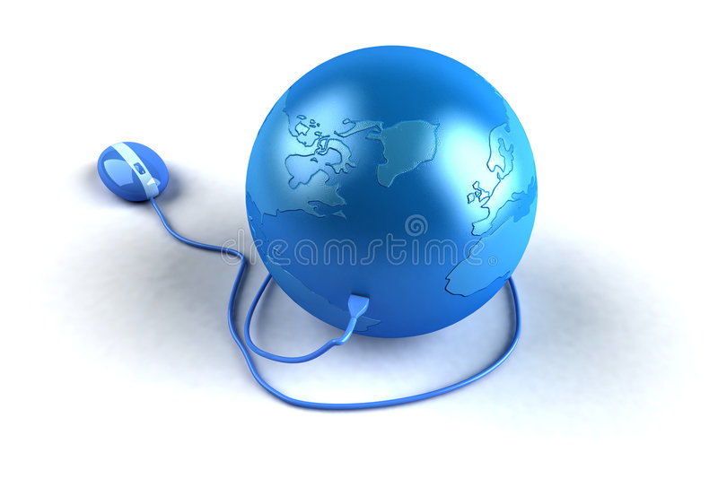 Global internet. World communications, made easy thanks to the internet stock illustration