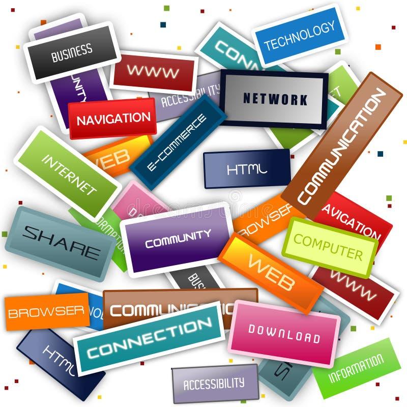 Global internet background vector illustration