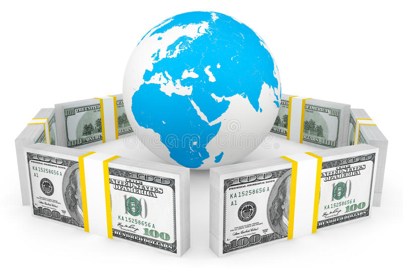 Download Global investment concept stock illustration. Image of continent - 26788098