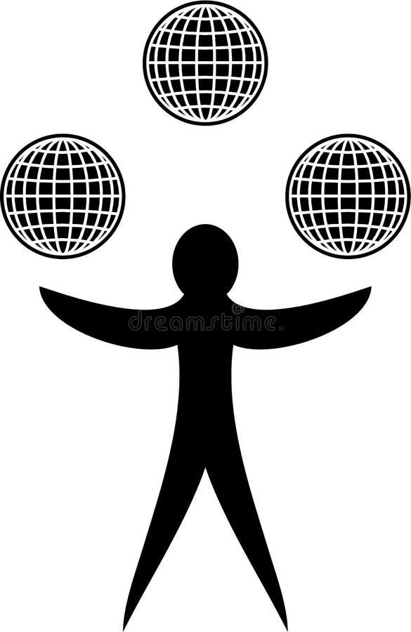 Download Global juggle stock illustration. Illustration of communication - 4628451