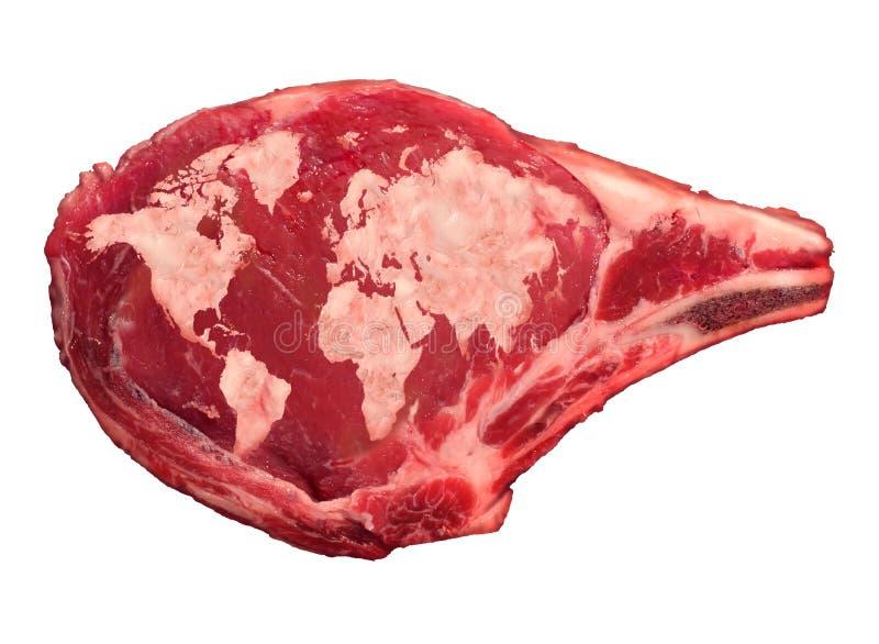 Global köttbransch vektor illustrationer