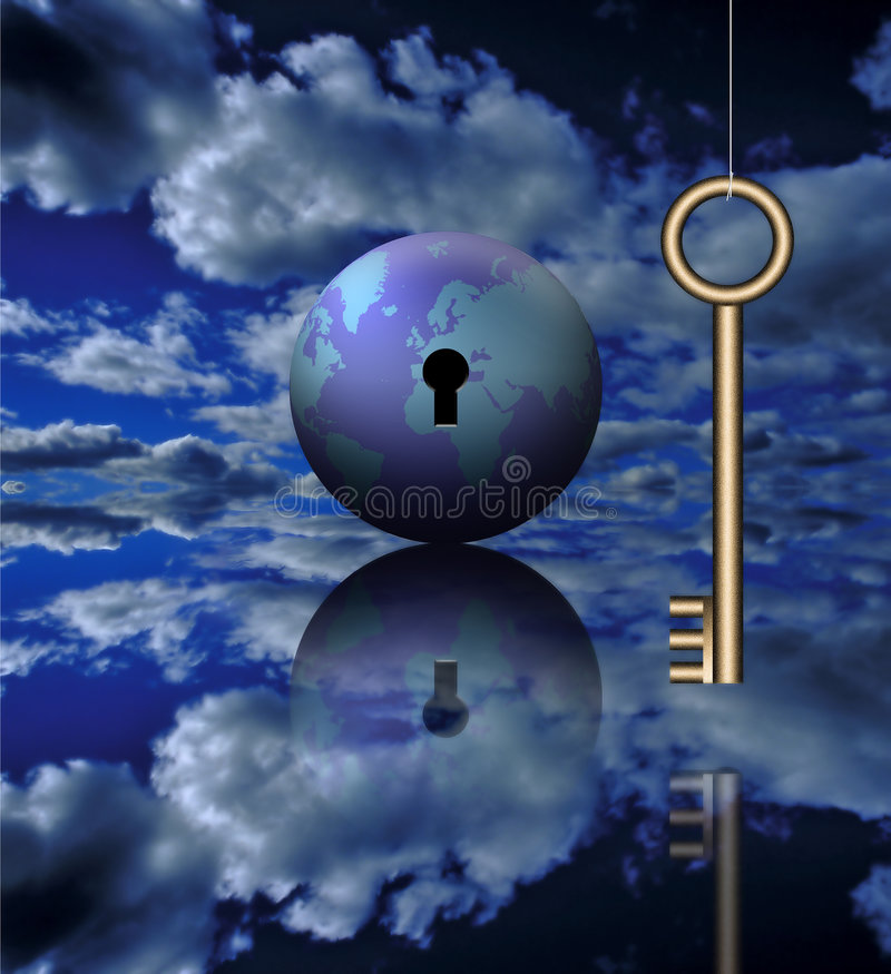 Download Global Key stock illustration. Illustration of guarantee - 792913